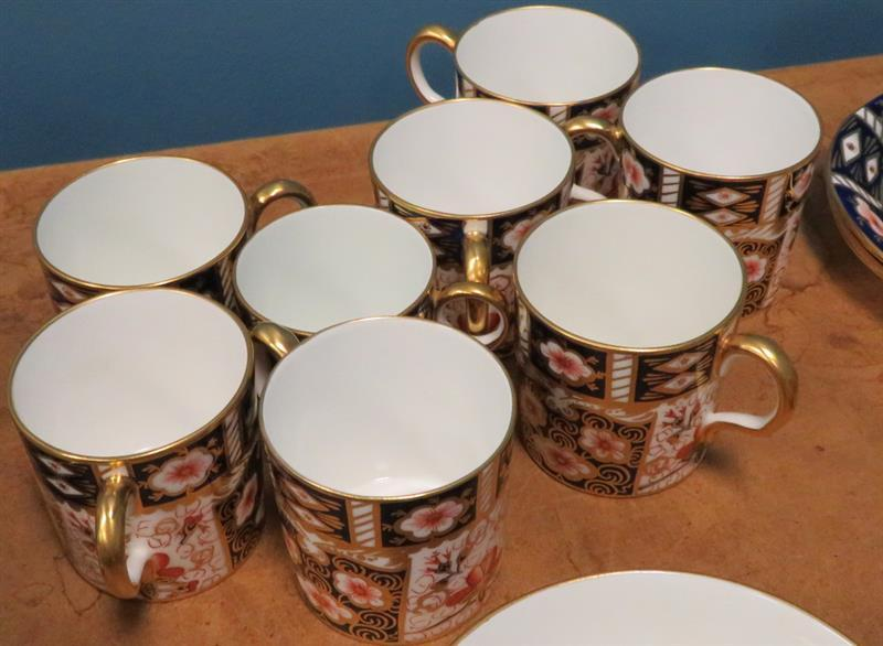 Royal Crown Derby Traditional Imari pattern partial dinner service (125pcs)