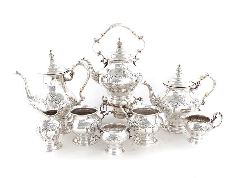 Gorham Chantilly silver tea and coffee service (8pcs)