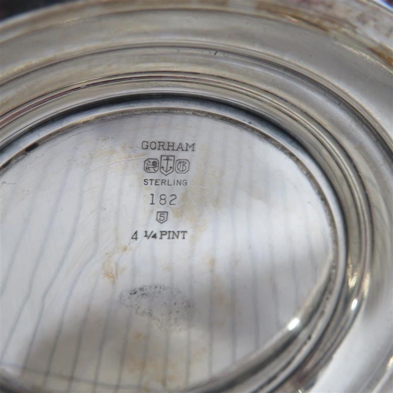 Gorham Puritan pattern silver beverage pitcher
