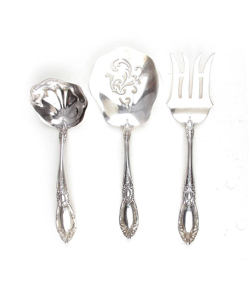 Towle King Richard silver serving pieces (46pcs)