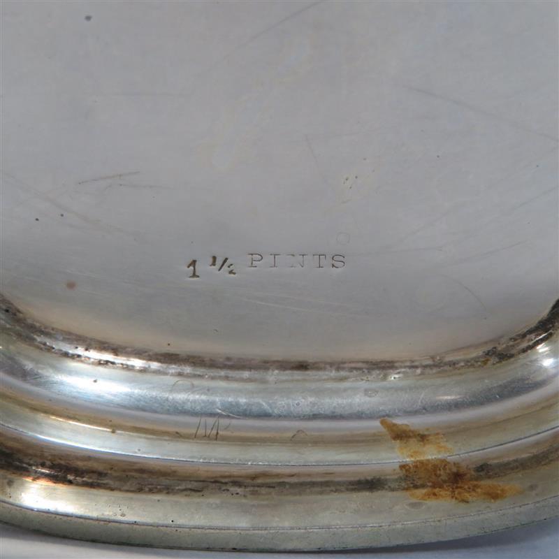 American silver teapot, Watson