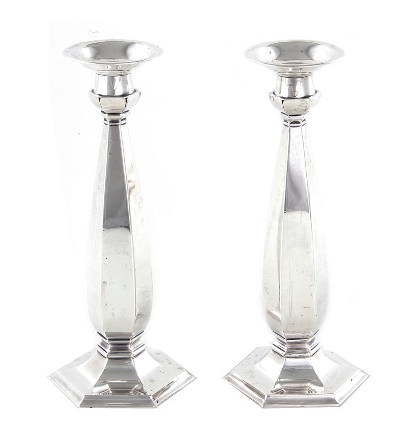 Pair Whiting silver candlesticks (2pcs)