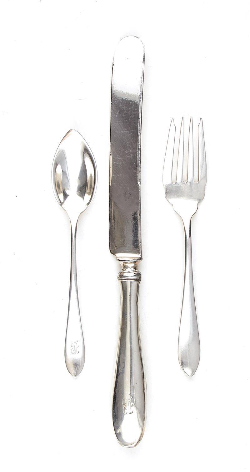 Frank Smith Martha Washington pattern silver flatware (48pcs)