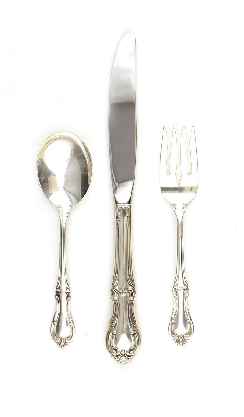 International Joan of Arc pattern silver flatware (42pcs)