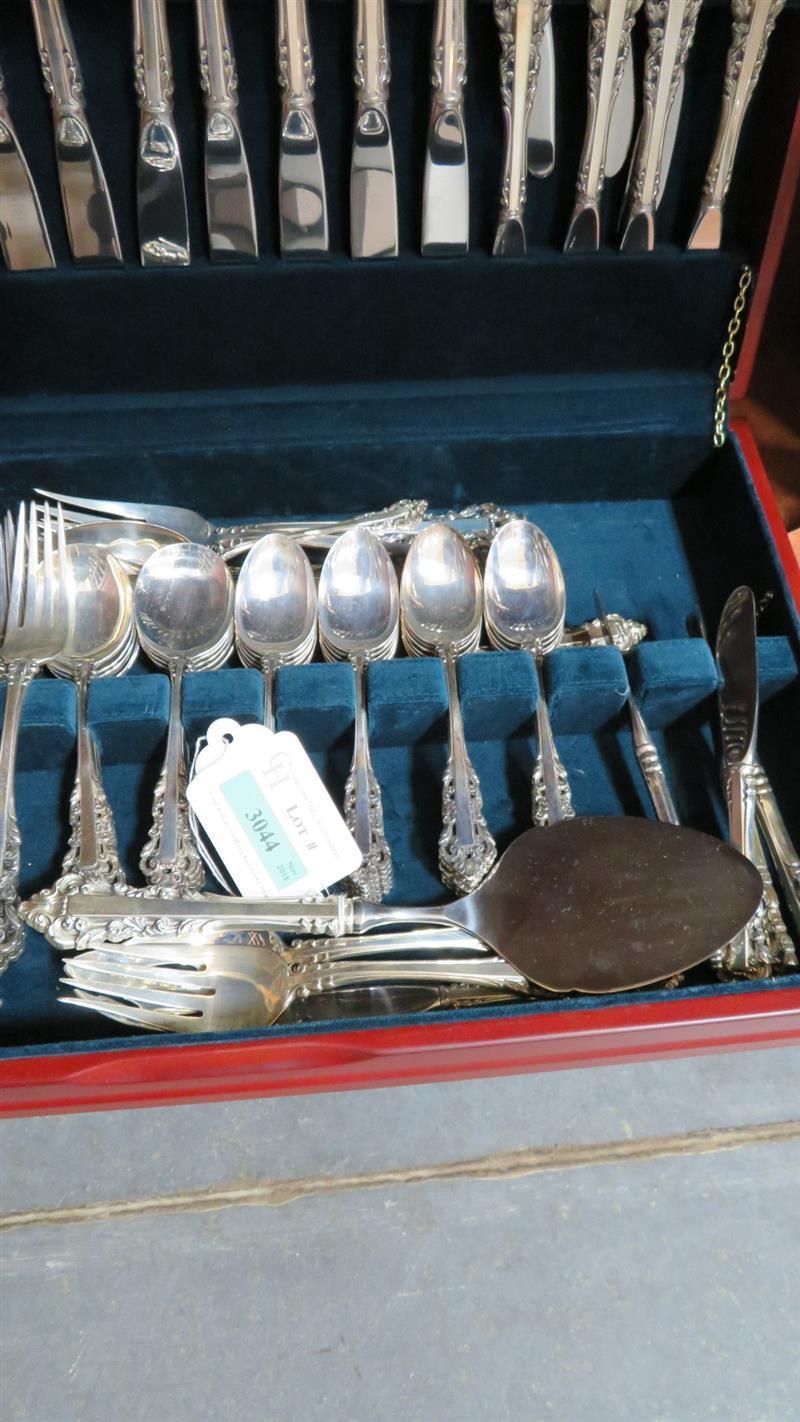 Gorham Medici pattern silver flatware (105pcs)