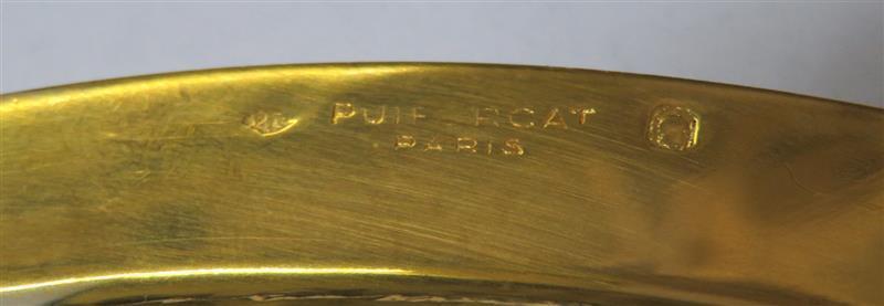 Puiforcat silver-gilt plates and round platters (12pcs)