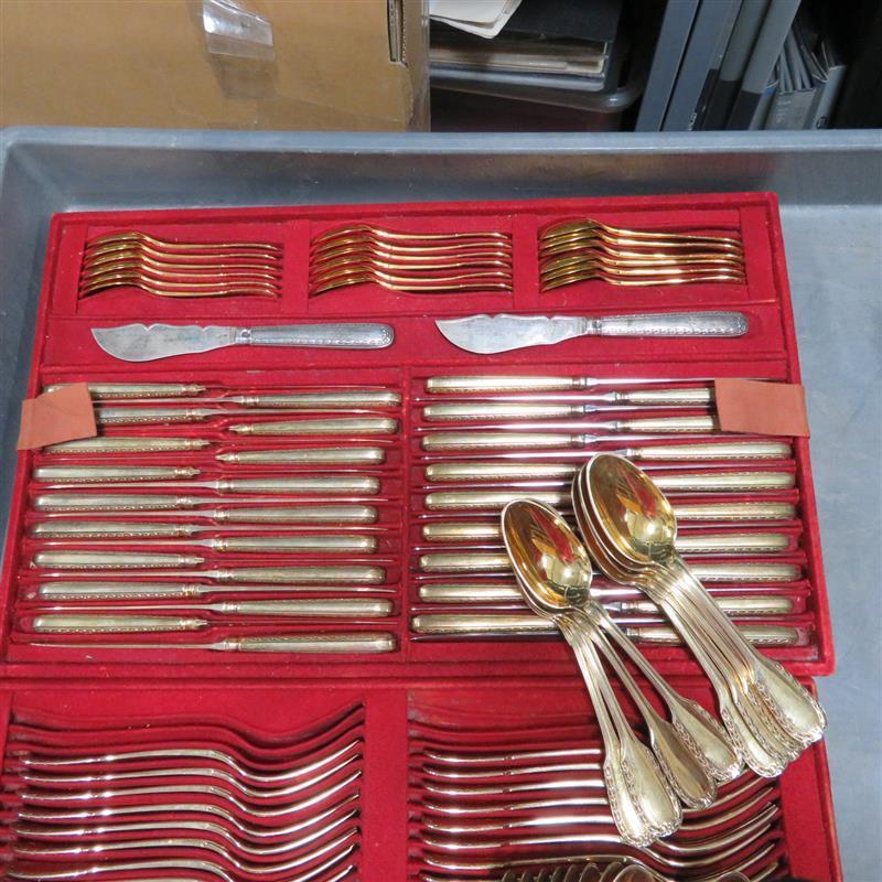 French silver flatware service, Andre Aucoc (158pcs)