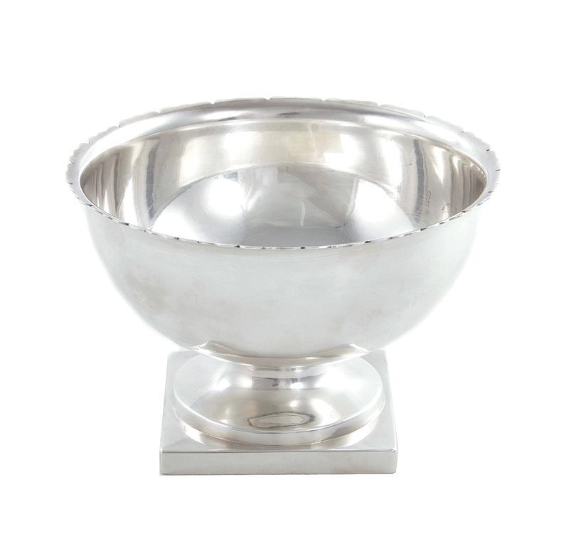 American silver footed bowl, Andras & Richard
