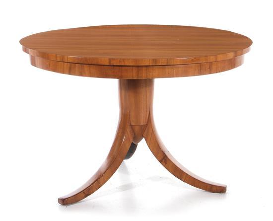 Beidermeier walnut center table
