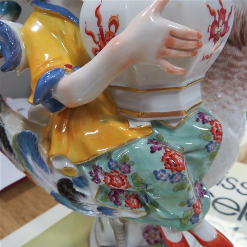 Meissen chinoiserie figural mustard pot