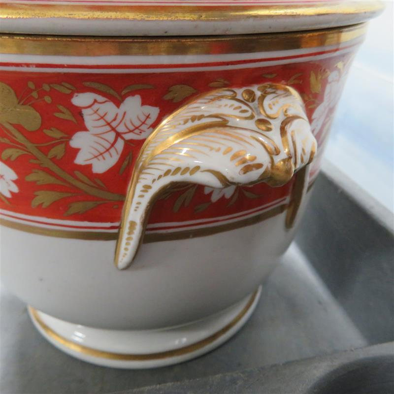 Pair English decorated-porcelain fruit coolers, probably Derby (2pcs)