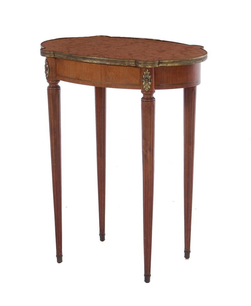 Louis XVI style mahogany and marble side table