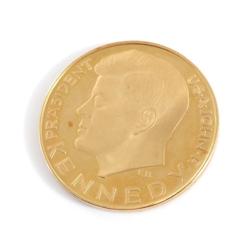 John F Kennedy 1963 German gold coin