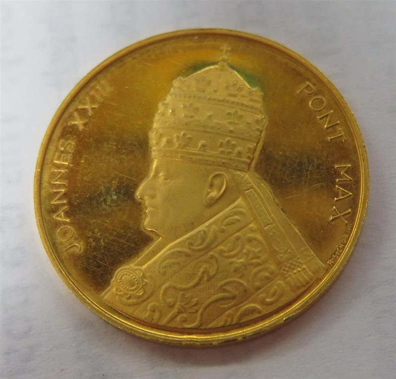 Rare Pope Joannes XXII Vatican gold coin