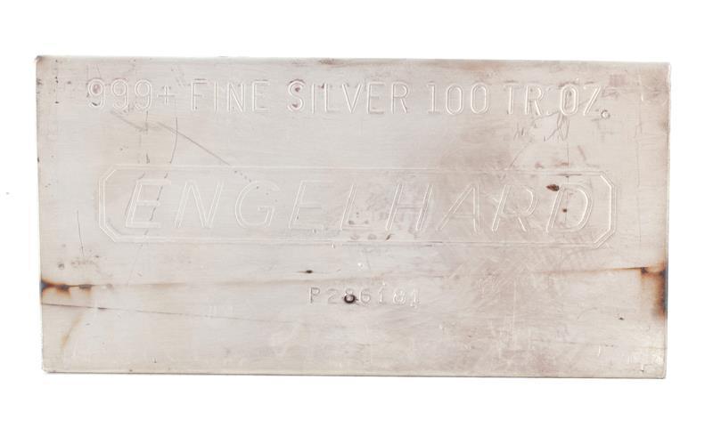 Engelhard 100oz silver bar