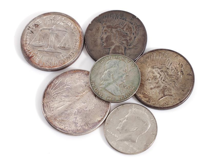 †American silver and other coins (15pcs)
