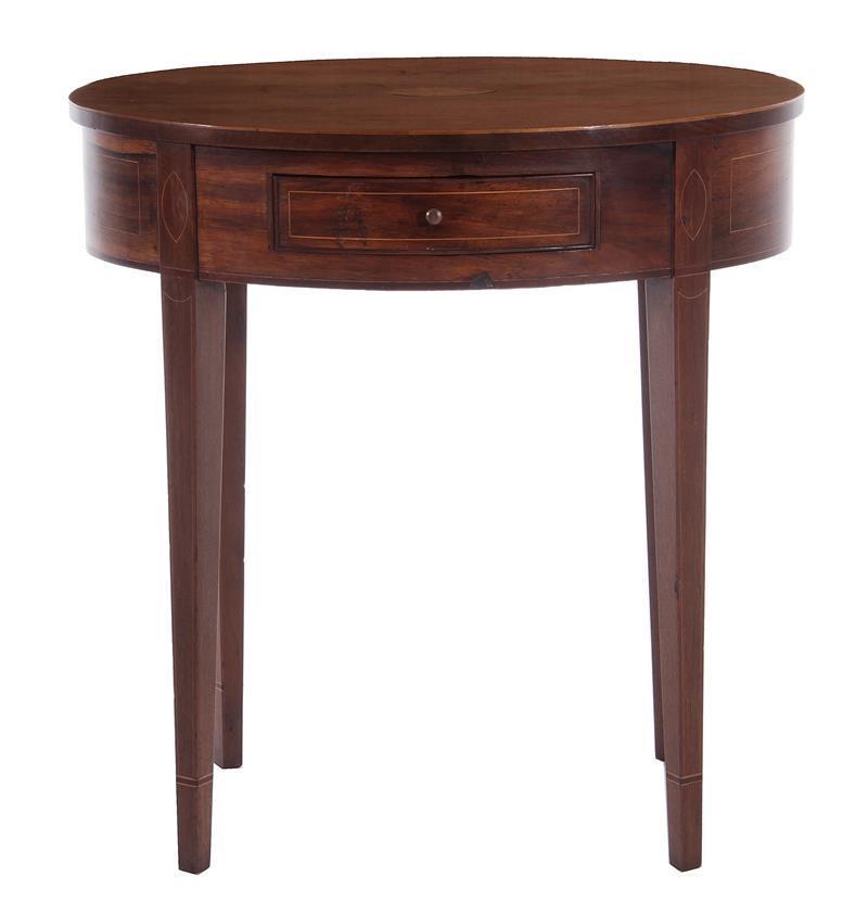 American inlaid mahogany side table