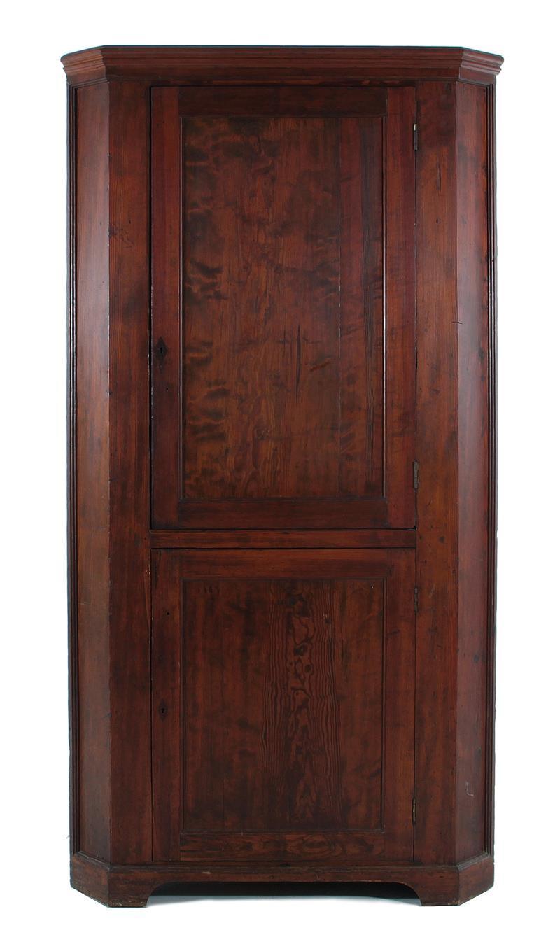 Southern pine corner cabinet