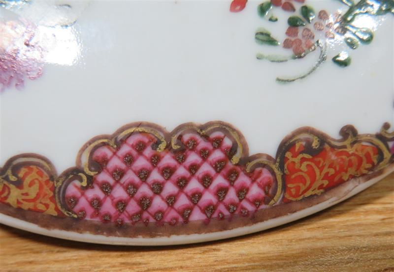 Chinese Export famille rose butter tub with cover