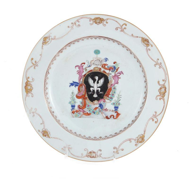 Chinese Export armorial porcelain charger