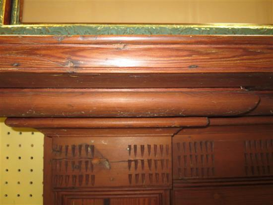Southern heart pine fireplace surround, probably North Carolina