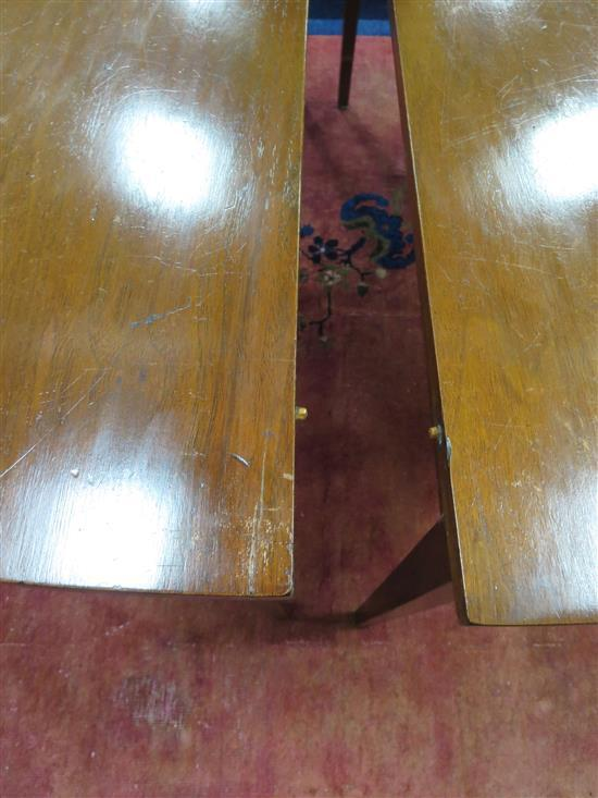 Southern Federal inlaid walnut dining table