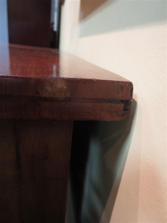 Regency mahogany bowfront brandy board/server