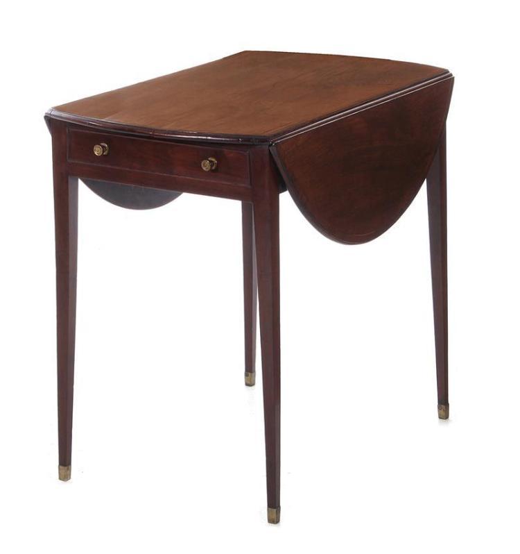 George III rosewood-inlaid mahogany Pembroke table