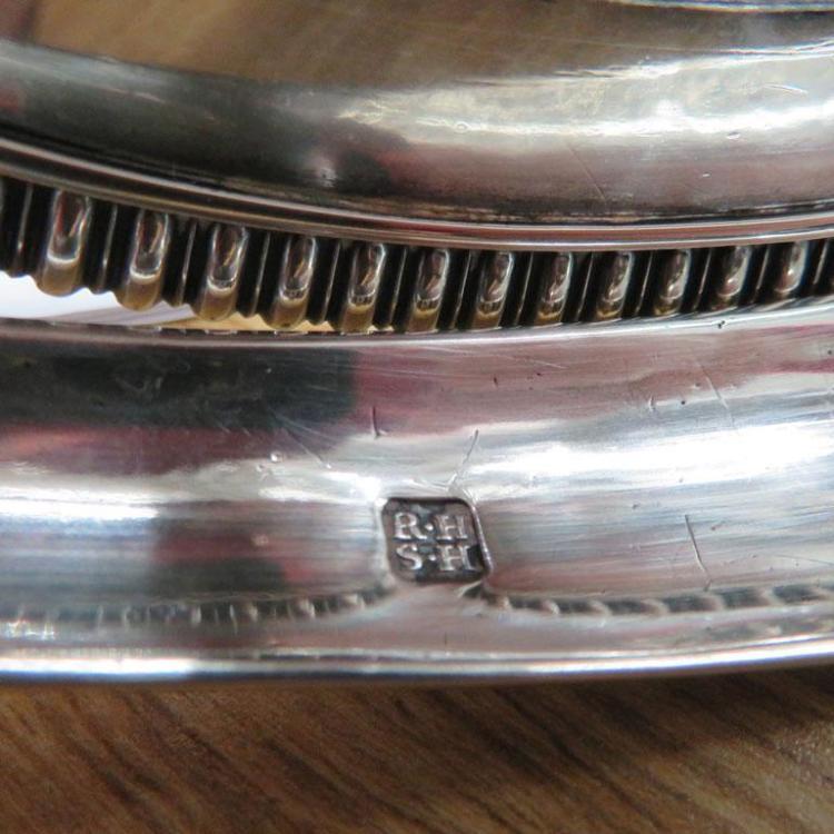 George III silver cake basket, Robert & Samuel Hennell