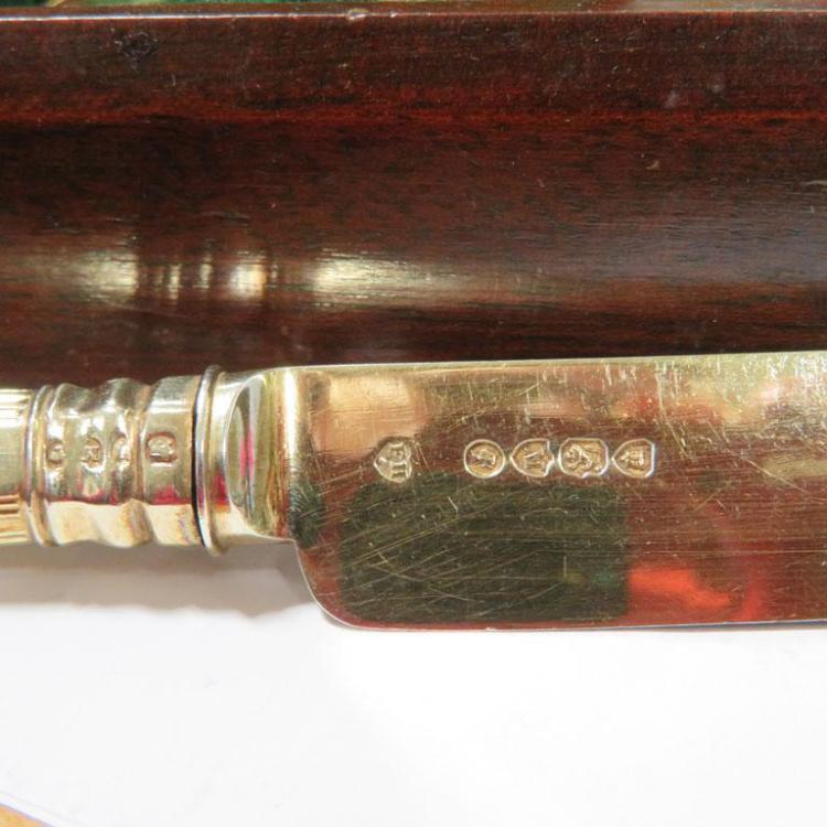 Victorian silver-gilt dessert service, Francis Higgins (27pcs)