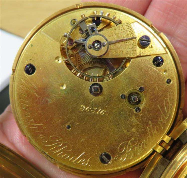 Manoah Rhodes gold pocket watch