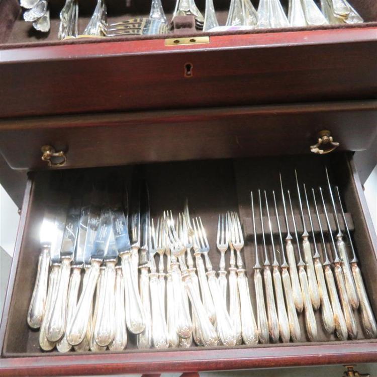 English silver flatware service, Mappin & Webb Ltd (144pcs)