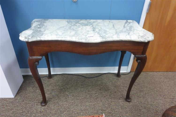 George III mahogany and marbletop pier table, possibly Irish