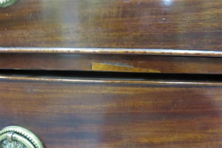 George III inlaid mahogany bowfront chest of drawers
