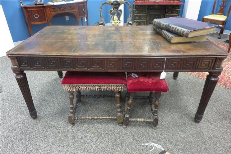 William IV carved mahogany library table