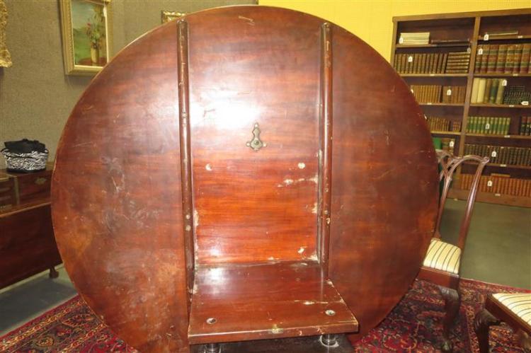 William IV carved mahogany tilt-top breakfast table