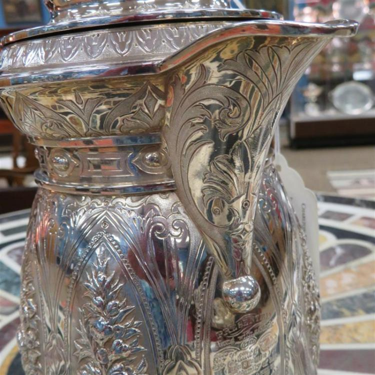 Scottish silver presentation jug, William Marshall