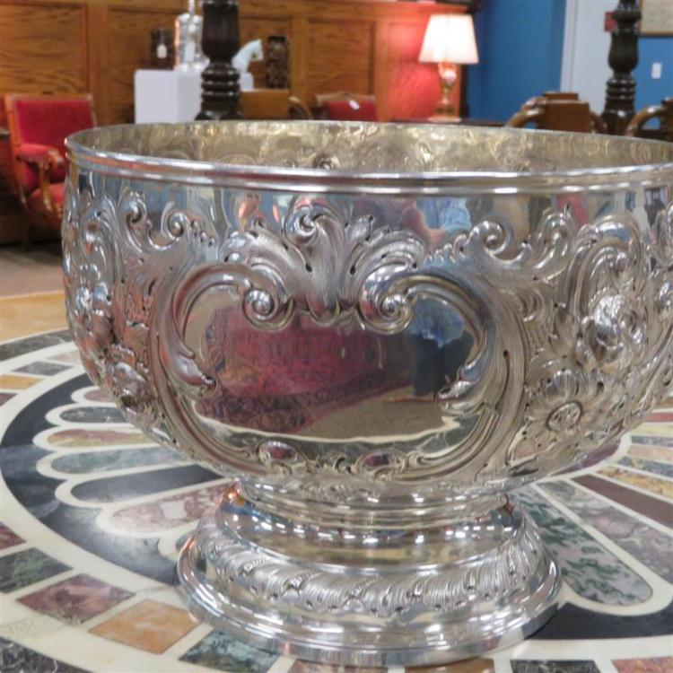 Victorian silver monteith/punchbowl, John Henry Rawlings