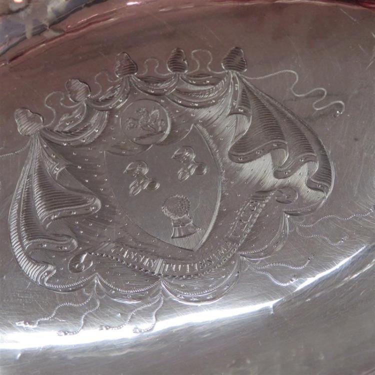 George III armorial silver basket, Charles Aldridge