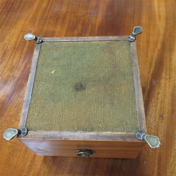 Georgian shell-clad tea caddy and stenciled box (2pcs)