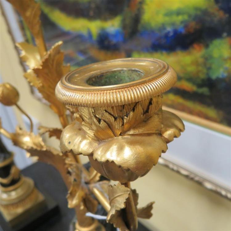 Pair Napoleon III parcel-gilt bronze candelabra (2pcs)