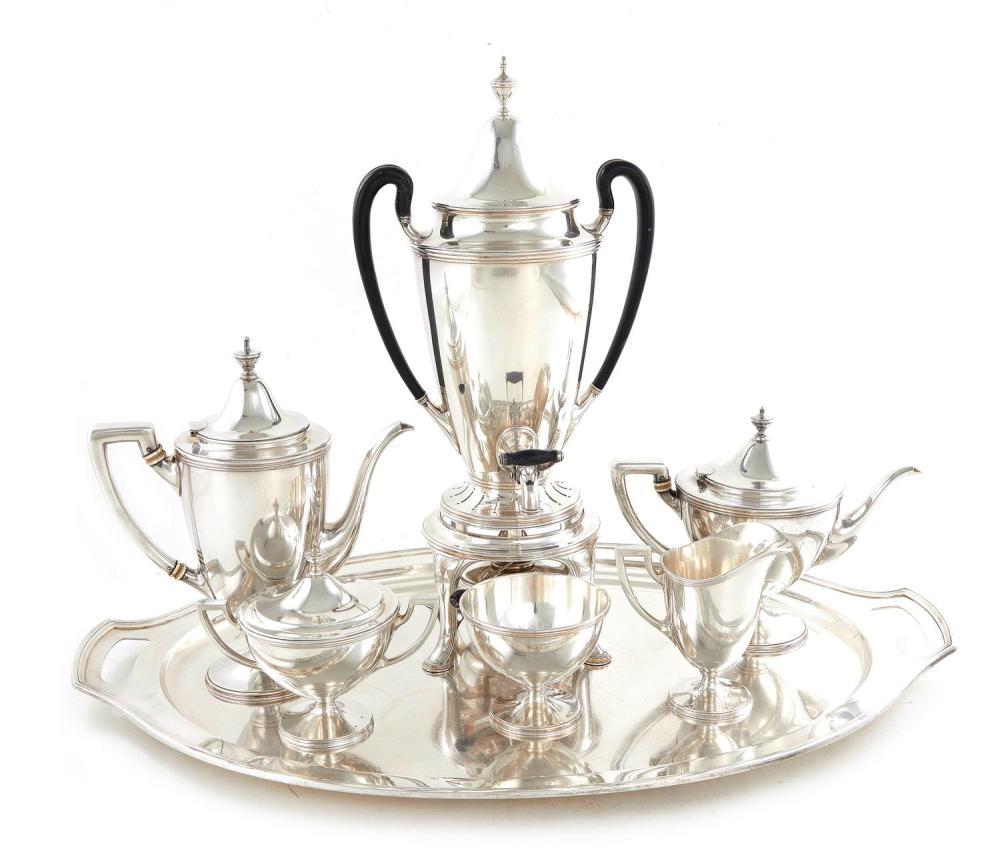 American silver tea and coffee service, Tiffany & Co (7pcs)