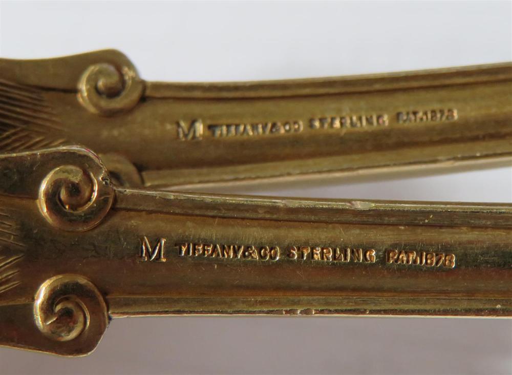 Tiffany & Co Olympian pattern silver-gilt salad serving set (2pcs)