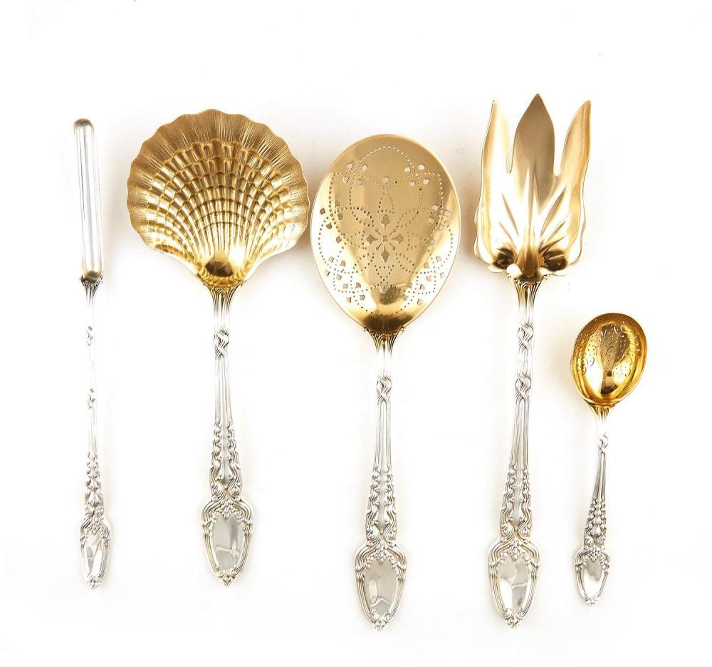 American silver Broom Corn pattern flatware set, Tiffany & Co (approx. 261pcs)