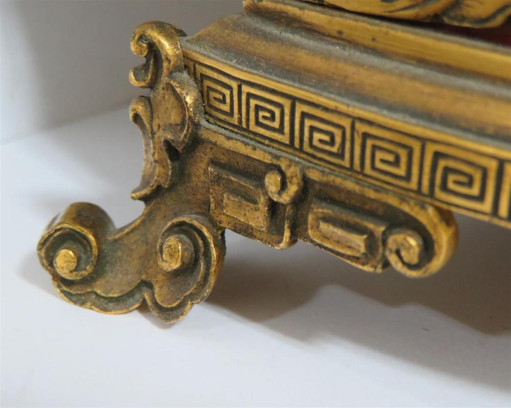 Gilt-bronze, ivory and lacquer writing desk set, attrib. Caldwell & Co