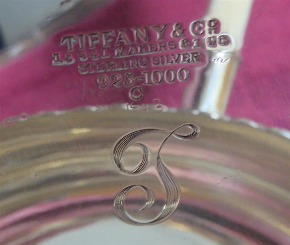 American silver chafing dish on lampstand, Tiffany & Co