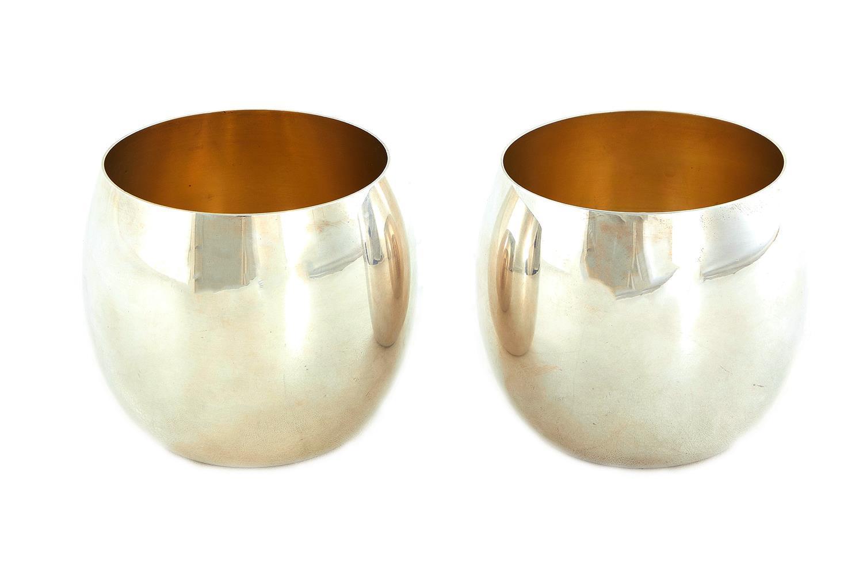 Pair American silver tumblers, Tiffany & Co (2pcs)