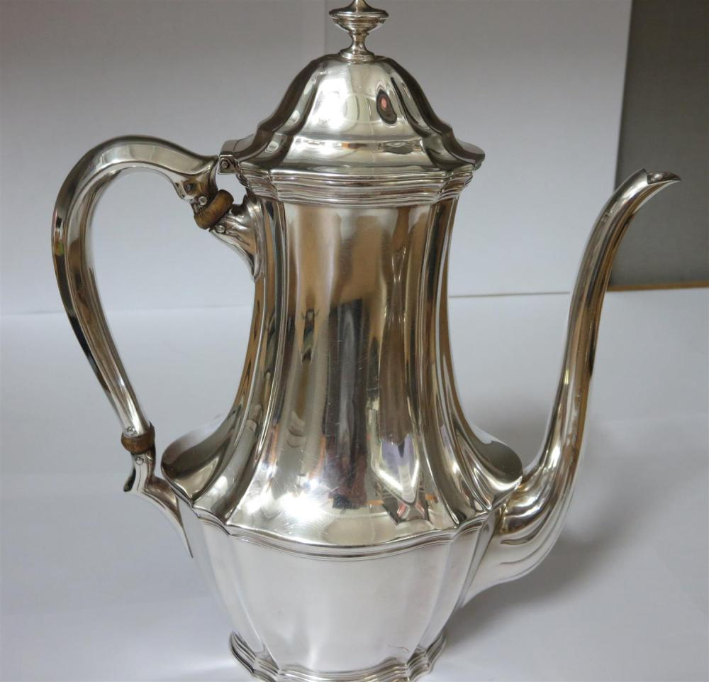 American silver demitasse pot, Tiffany & Co