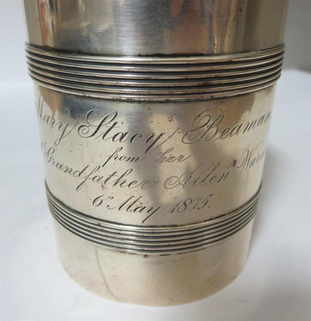 American silver mug, Tiffany & Co