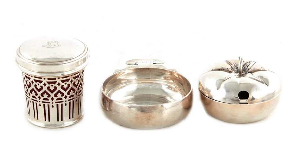 American silver table articles (3pcs)